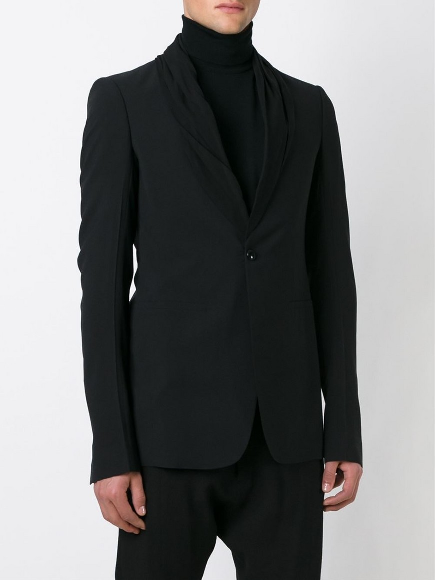 sale tux blazer rick owens. Black Bedroom Furniture Sets. Home Design Ideas